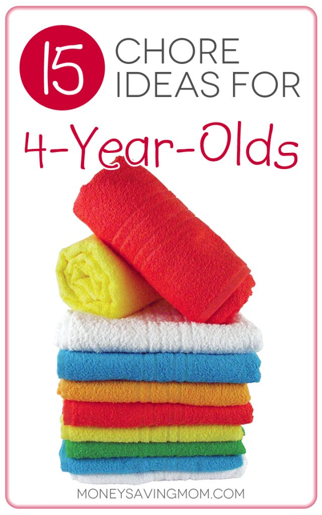 15 Chore Ideas for 4-Year-Olds