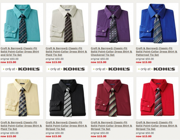 4ab63cc14a94eb Kohls.com  Men s dress shirts and tie sets for  12.72 shipped ...