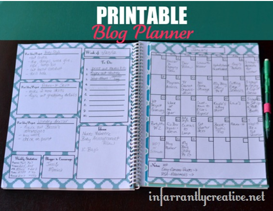 Dramatic image for blog planner printable