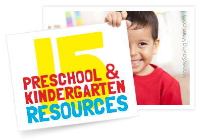 15 preschool and kindergarten educational and learning resources