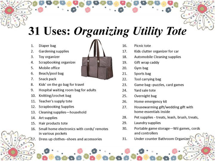 Weekend Giveaway Personalized Organizing Utility Tote And Retro Metro Bag 3 Winners Money Saving Mom