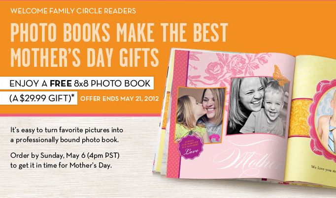 Shutterfly and Family Circle have teamed up to offer you an 8×8 Photo ...: moneysavingmom.com/2012/04/shutterfly-8x8-photo-book-for-the-price...