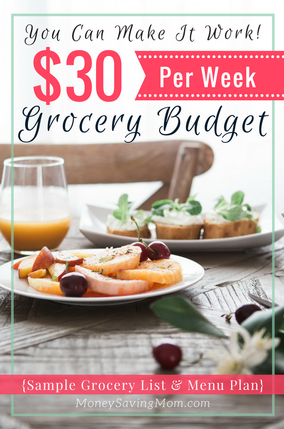 is it possible to survive on a  30 per week grocery budget