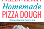 This Freezer-Friendly Pizza Dough recipe is such an EASY, go-to recipe! It's nearly impossible to mess up, and it freezes really well!