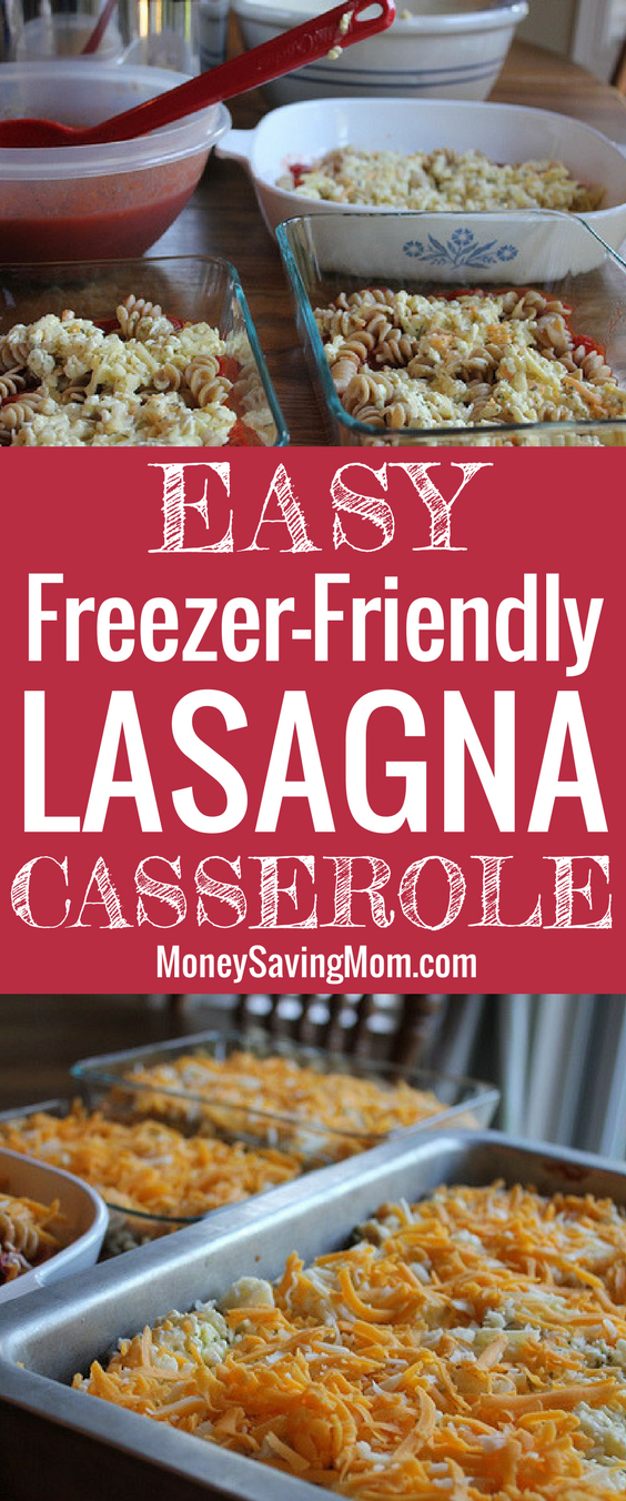 This Lasagna Casserole recipe is so, so good and so much easier and cheaper than regular lasagna!