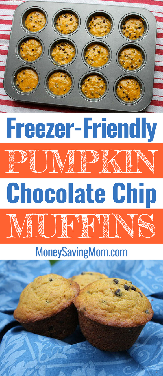 Ready for fall baking? These pumpkin chocolate chip muffins are a winner!!