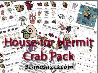educational freebie house for hermit crab preschool pack money saving mom. Black Bedroom Furniture Sets. Home Design Ideas