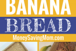 This is the perfect go-to banana bread recipe, and it's freezer-friendly!! Yummy and easy to make!