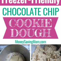 Cookie dough is SO easy to make ahead of time and freezer for later! And you'll always have cookies ready to pop in the oven when company comes over!!