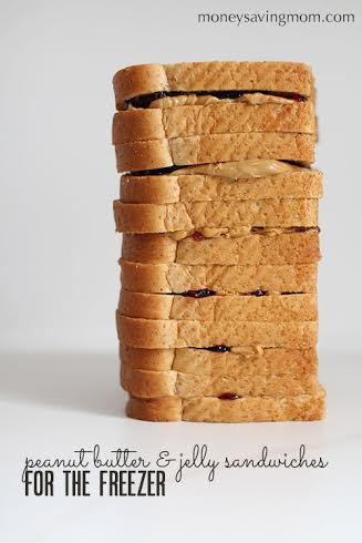 Freezer-Friendly Peanut Butter & Jelly Sandwiches
