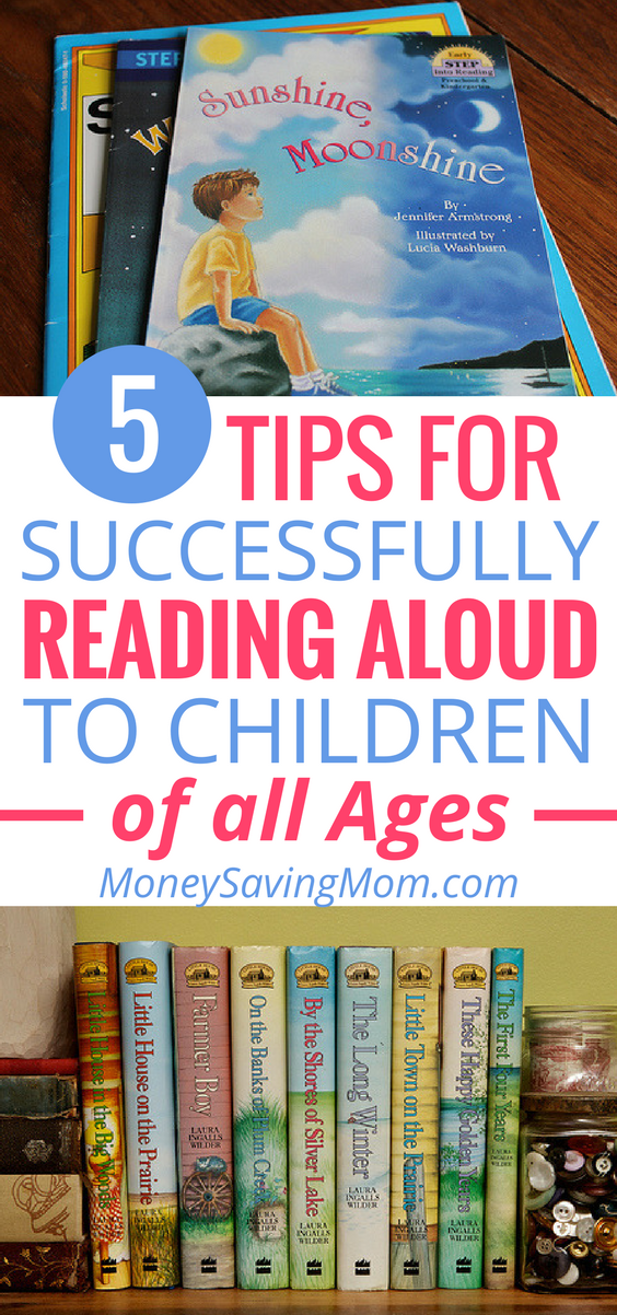 Want to read aloud to your children more often? These 5 tips are SO helpful -- especially if you have children of various ages!