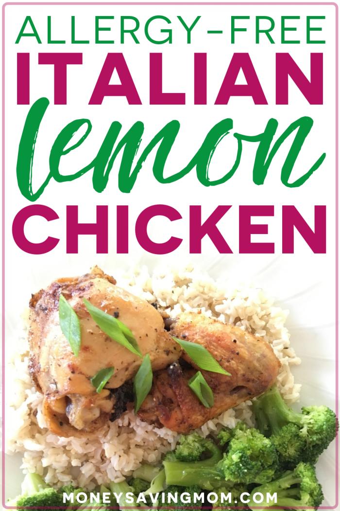 Allergy-Free Italian Lemon Chicken