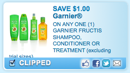 photo about Garnier Printable Coupon titled $1/1 Garnier Shampoo coupon + extra printable discount coupons - Economic