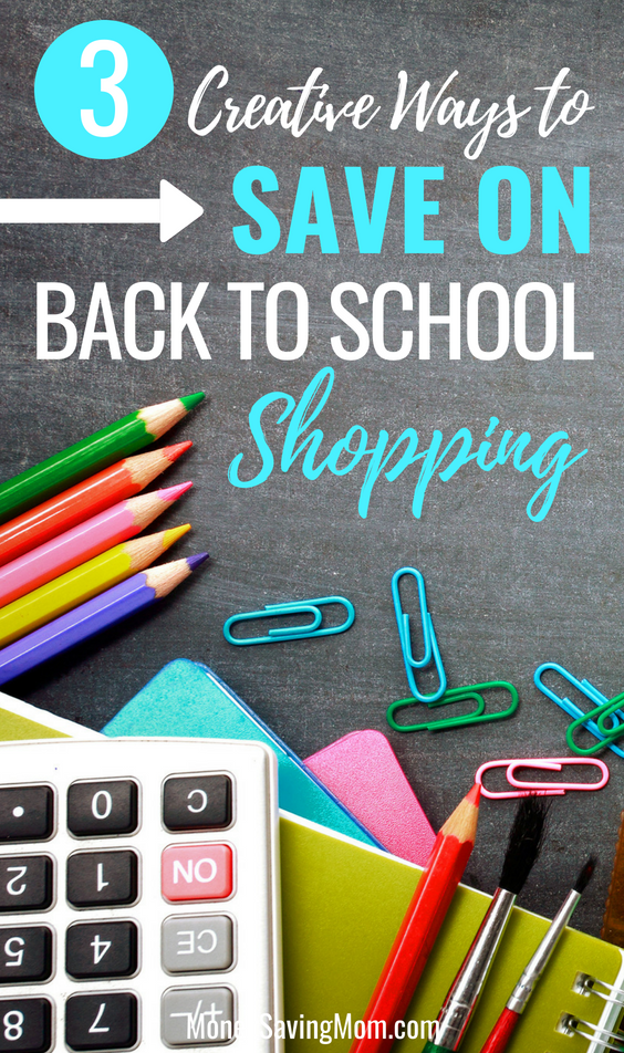 Save on last minute back to school shopping with these 3 creative ideas!