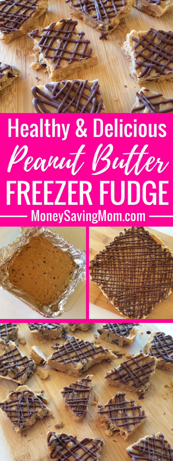 This Peanut Butter Fudge is a great way to splurge on a no-refined foods diet! It's freezer-friendly, healthy, and oh-SO delicious!