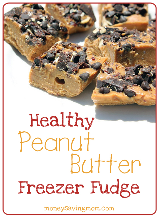 Healthy Peanut Butter Freezer Fudge