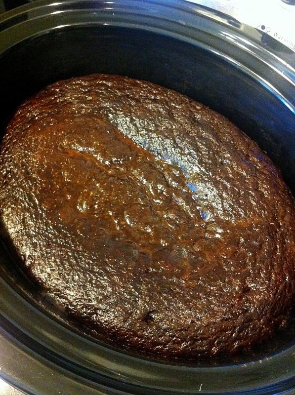 Slow Cooker Chocolate Lava Cake Gluten Free