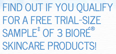 Possibly three free Biore skincare samples