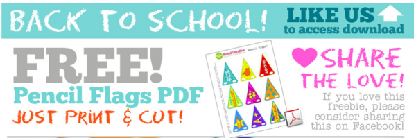 free printable back to school pencil flags download facebook offer