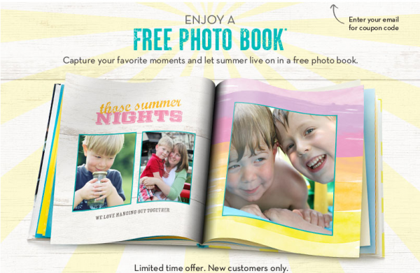 free shutterfly 8x8 photo book just pay shipping new customers