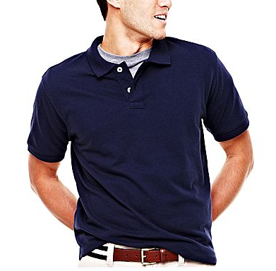 Men 39 s arizona polo shirt for 5 shipped to for Jcpenney ladies polo shirts