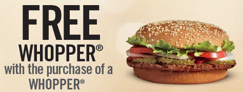 photo regarding Smoothie King Printable Coupons titled Burger King: Acquire 1, Obtain One particular Cost-free Whopper printable coupon codes