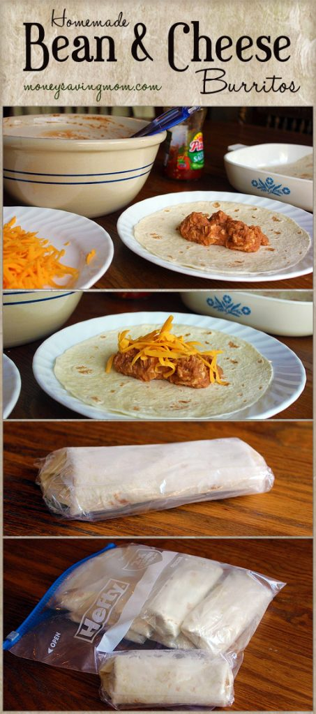 Homemade Bean & Cheese Burritos