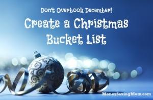 Create a Christmas Bucket List