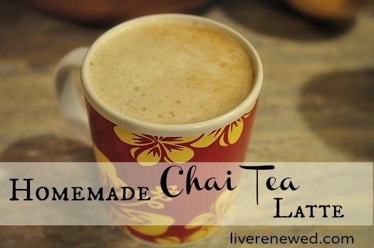 ... .com shows you how to make Homemade Dairy-Free Chai Tea Latte