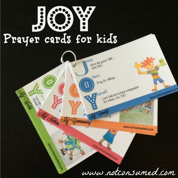 Free Joy Prayer Cards for Kids download (two days only) - Money ...