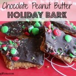 Chocolate Peanut Butter Holiday Bark