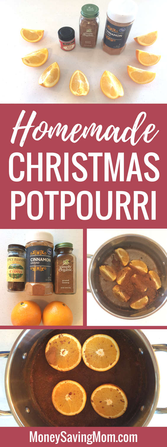 Frugal Homemade Christmas Potpourri -- In just two minutes!!