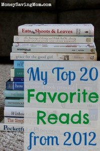 My Top 20 Favorite Reads from 2012