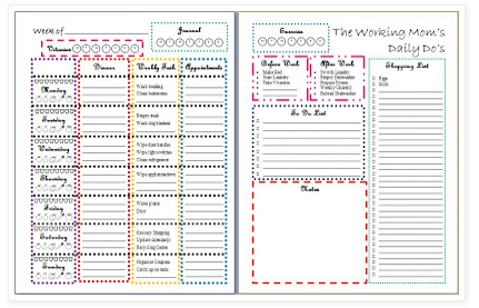 Download A Free Printable Working Momu0027s Daily ...  Daily Organizer Template
