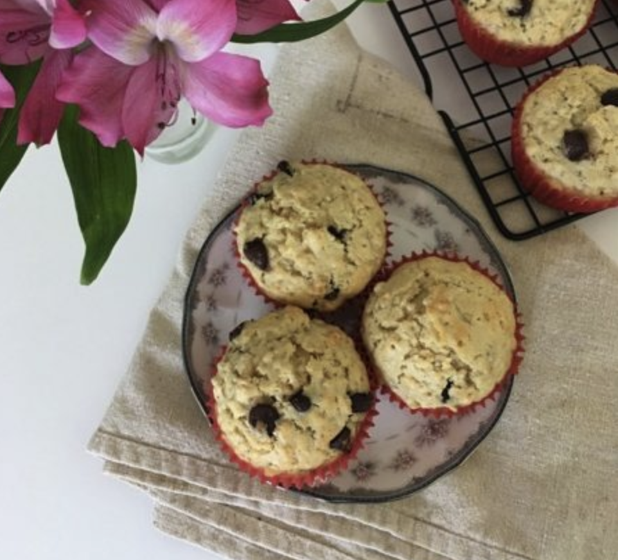 Oatmeal Chocolate Chip Muffins Recipe