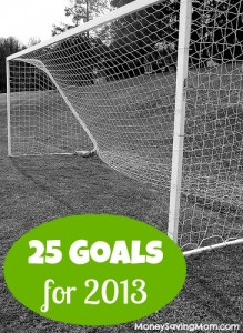 25 Goals for 2013