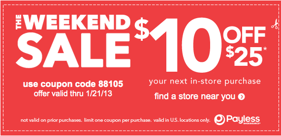 photo relating to Payless Shoes Printable Coupon titled Payless Shoesource: $10 off $25 inside-keep obtain coupon