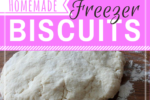 These homemade freezer biscuits are quick, easy, frugal, and so practical! Say goodbye forever to canned biscuits! This recipe is a winner!! Best of all, you control what ingredients go in it, unlike canned biscuits that you buy at the store.