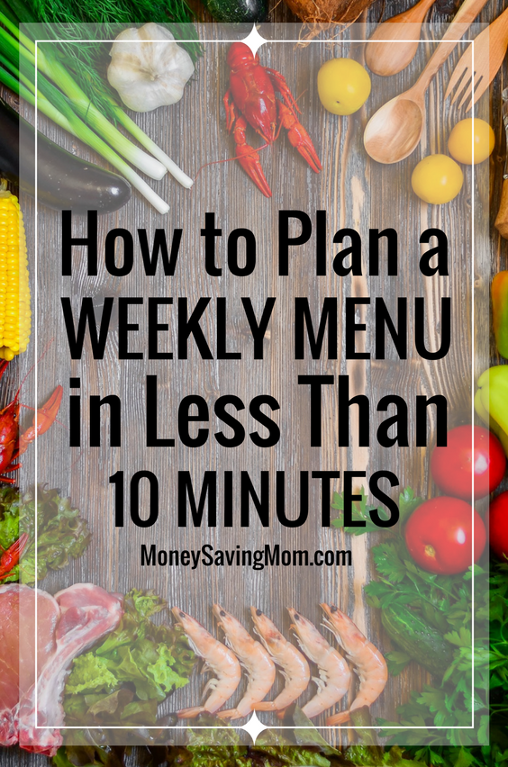 Is menu planning something you dread? It doesn't have to be with these easy tips to help you plan a menu in just 10 minutes!