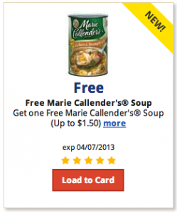 graphic about Marie Callender Coupons Printable known as Kroger: No cost can of Marie Callenders soup e-coupon - Economical