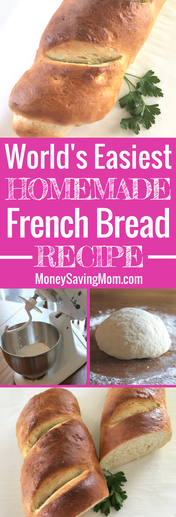 This French Bread recipe is SO easy to make, and it's super delicious -- perfect to whip up for weeknight dinners!