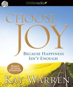 Free audiobook: Choosing Joy by Kay Warren