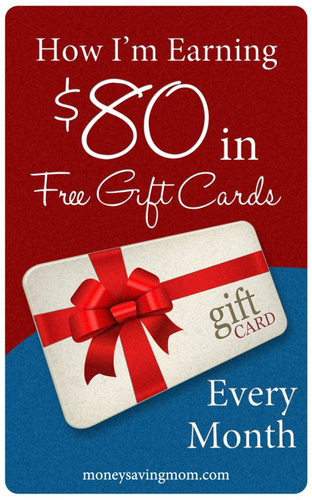 How I'm Earning $80 in Free Gift Cards Every Month