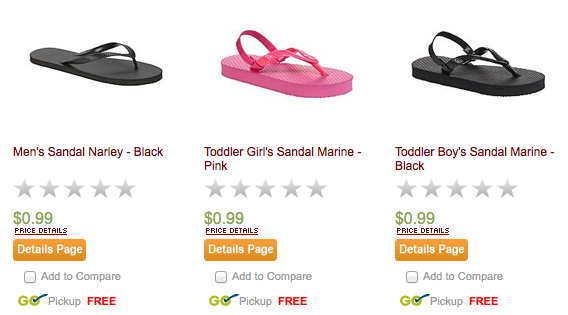 ea13ced07953 KMart  Flip Flops for the whole family for  0.79 each (shipped to ...