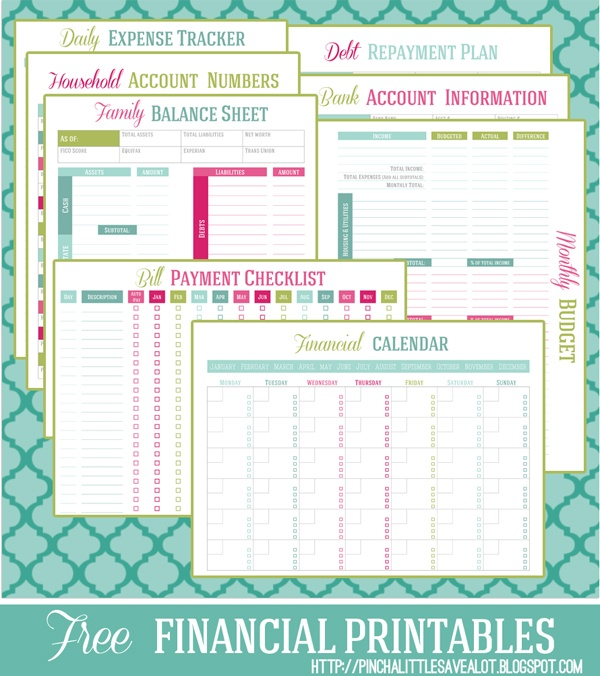 Free printable Financial Management Planners/Trackers - Money Saving ...