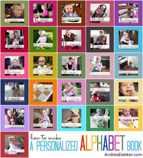 How To Make A Book Yourself ~ Do it yourself personalized alphabet book money saving mom