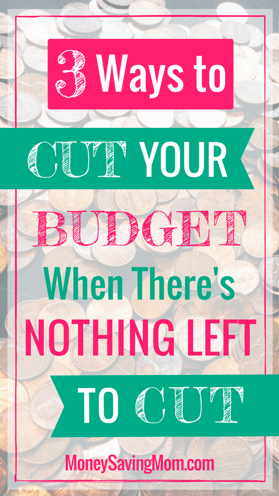 These are such simple ways to cut your budget, even when it feels like there's absolutely nothing left to cut!!