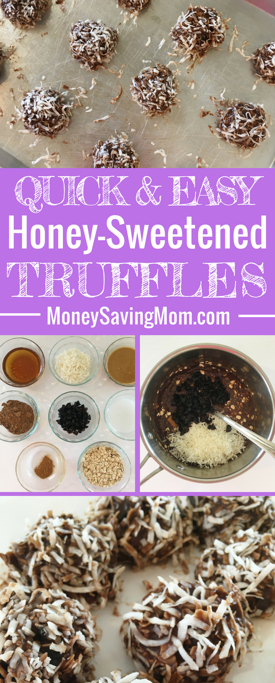 These Honey-Sweetened Truffles are such a delicious healthy snack, and they're super easy to make!