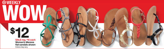 23703160b4ad Target  Merona sandals for just  7 each - Money Saving Mom®   Money ...