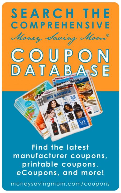 Money Saving Mom® Coupon Database